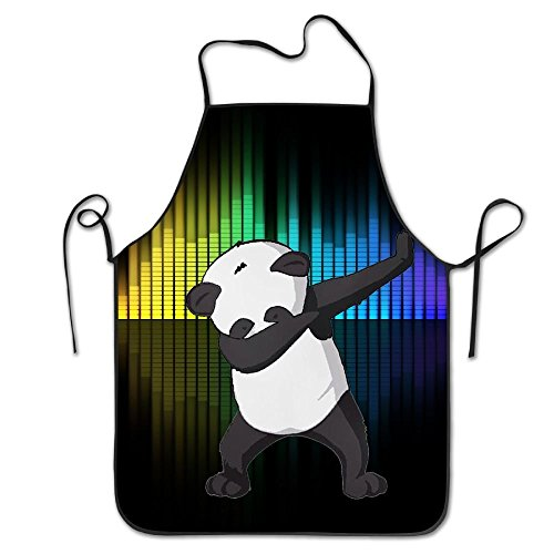 Panda Dabbing Funny Dab Dance.Cooking Apron Kitchen Apron, Lock Edge Waterproof Durable String Adjustable Easy Care Aprons For Women Men Chef