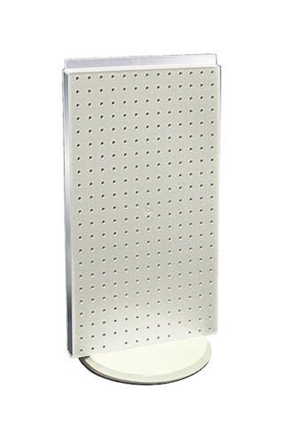 New White Pegboard on Revolving Base Counter Unit 13.5w x 22 high