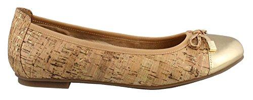 Leather 359 Vionic Cork Shoes Womens Gold Minna BpzWqOwz