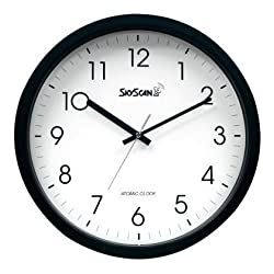 SkyScan Atomic Wall Clock - 14 Inch Analog