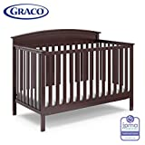 Graco Benton 4-in-1 Convertible Crib (Espresso) - Easily Converts to Toddler Bed, Daybed or Full-Size Bed with Headboard, 3-Position Adjustable Mattress Support Base