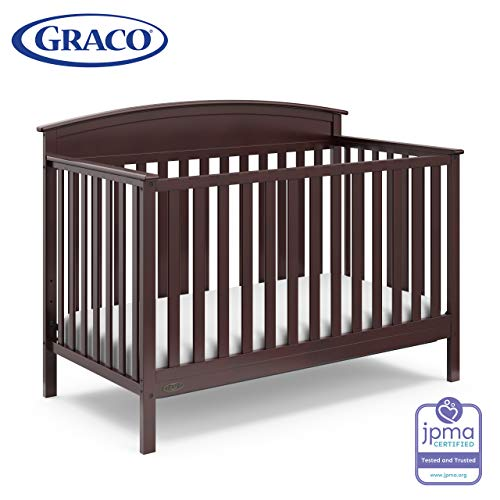 Graco Benton 4-in-1 Convertible Crib (Espresso) - Easily Converts to Toddler Bed, Daybed or Full-Size Bed with Headboard, 3-Position Adjustable Mattress Support Base (Size For Daybeds Full Sale)