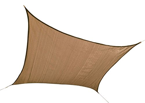 ShelterLogic 222 Heavyweight 16 x 16 ft. Square Sand Sun Shade Sail, 16 x 16
