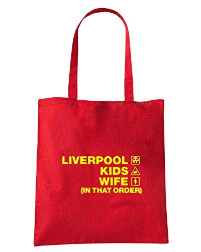 T-Shirtshock - Bolsa para la compra WC1233 liverpool-kids-wife-order-tshirt design Rojo