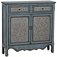 Powell 14A2048 Antique Console, Blue/White