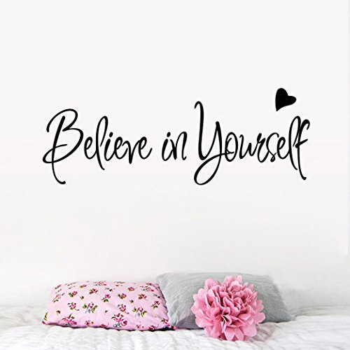 Oksale® Believe In Yourself Wall Stickers Papers PVC Removable Bedroom Living Room Home Showcase Applique Mural Decor Decal