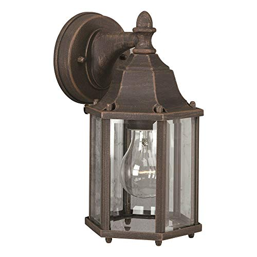 Forte Lighting 1742-01 Outdoor Wall Sconce from the Exterior Lighting Collection, Painted Rust 01 Exterior Wall Sconce