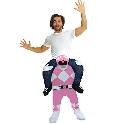 Morph Unisex Pink Mighty Morphin Power Rangers Piggyback Costume - With Stuff Your Own -