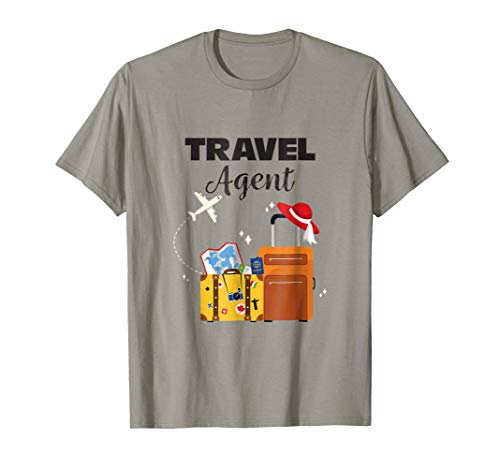 - Funny Shirts Travel Agent Tees Plane Vacation Men Women Gift