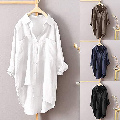 Longue Sweatshirts Dcontracte Top Casual Crop et 1 Chic Tops Simple Manches Lache Chemise Femmes Imprim Haut Vetements t OVERMAL Shirt T Sexy Blouse White Mode Automne pwHqI1gx1