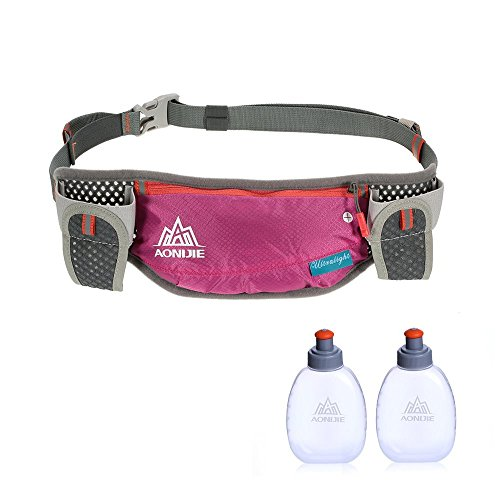 Lixada Running Hydration Belt Bottle Holder Belt Reflective Running Water...