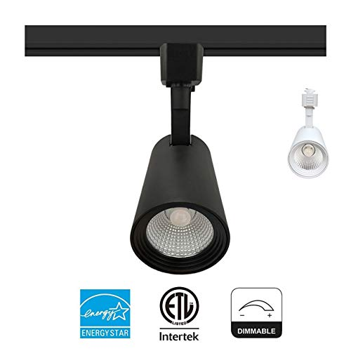 LED Track Light Head 9W (60W Equiv.) 600 Lumens 40° Beam Adjustable CRI90+ Dimmable (ENERGY STAR & ETL) for Wall Art Exhibition Retail Lighting Fixture,Black Finish,Halo Type,4000K Natural White