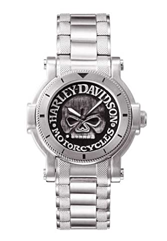Harley-Davidson® Bulova Mens Watch, Antique Medallion Skull Dial, 76A11 (Men Antique Watch)