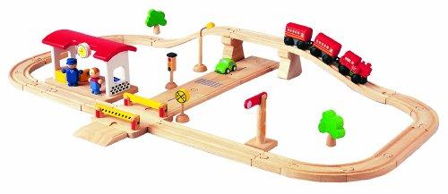 (PlanToys Road & Rail Deluxe Play Set)