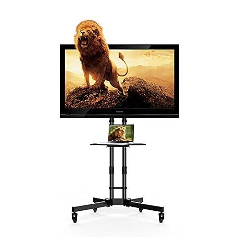 FLEXIMOUNTS C06 Mobile TV Cart Stand for 32''-65'' LCD LED Plasma Flat Panel Screen