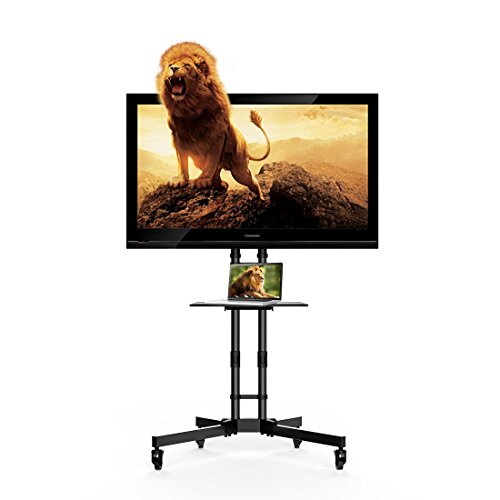 FLEXIMOUNTS Universal TV Stand TV Cart Mobile Office Stand for 32''-65'' LCD LED Plasma Flat Panel Screen