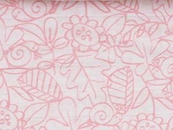 Ti-tin Muselina de Algod/ón Extra Suave Estampado de Hojas Color Rosa 100/% Algod/ón 100g//m/² Muselina grande para Beb/é Pa/ño de Muselina Suave 120x120cm