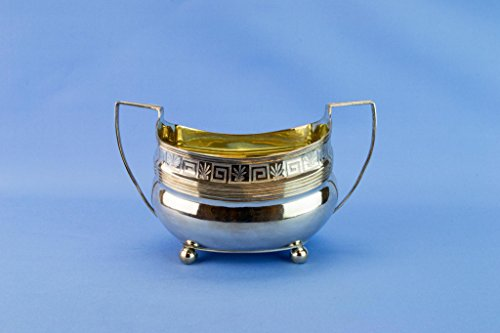 1807 Sterling Silver Regency Georgian Sugar Bowl Alice and George Burrows Antique English -