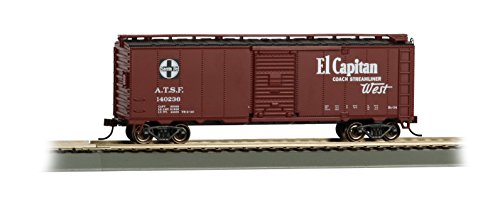 - Bachmann Industries 40' Santa Fe Map Box Car - El Capitan - HO-Scale Train