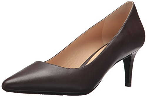 (Nine West Women's SOHO9x9 Pump, Dark Brown Leather, 12 M US)