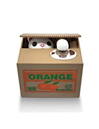 Matney Stealing Coin Cat Box- Piggy Bank - White Kitty - English Speaking BOBEBE Online Baby Store From New York to Miami and Los Angeles
