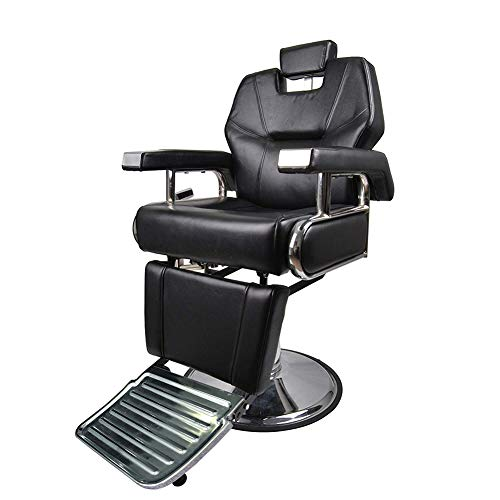 Polar Aurora Black Hydraulic Recline Hairdresser Barber Chair Salon Barber Shop Equipment
