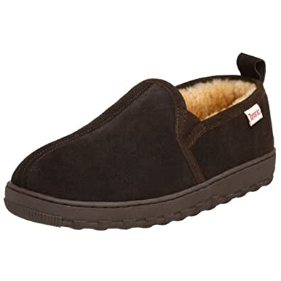 Tamarac by Slippers International Men's Cody Sheepskin Slipper,Rootbeer,7 M US