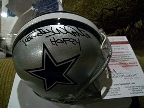 Dallas Cowboys Randy White Autographed Signed Autograph Helmet With Coa Nice JSA Authentic