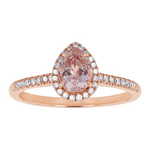 Olivia Paris 14K Rose Gold Pear Shape