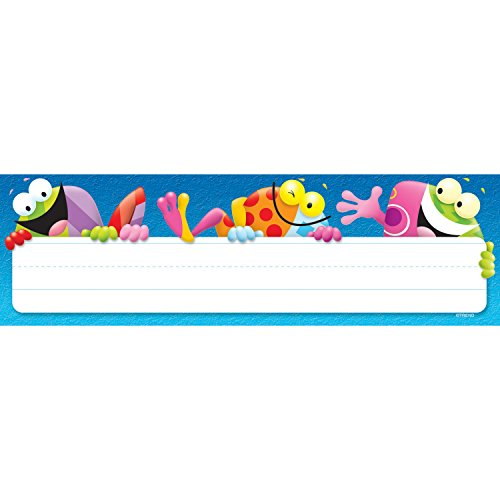 TREND enterprises, Inc. Frog-tastic! Desk Toppers Name Plates, 36 (Desk Plates Frogs)