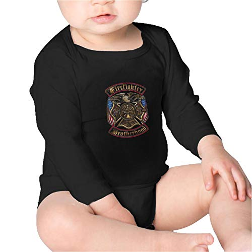 Firefighter's Brotherhood Unisex Baby Long Sleeve Bodysuit Black