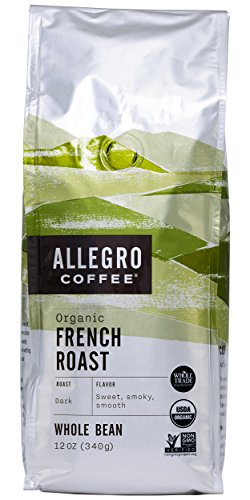 Allegro Coffee Organic French Roast Whole Bean Coffee, 12 (Organic Coffee Whole Bean French)