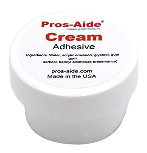 (Pros-Aide® Cream Adhesive 1/2 oz. Jar - Official Product of ADM)