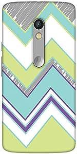 Snoogg Zig Zag Design 2368 Designer Protective Back Case Cover For Motorola M...