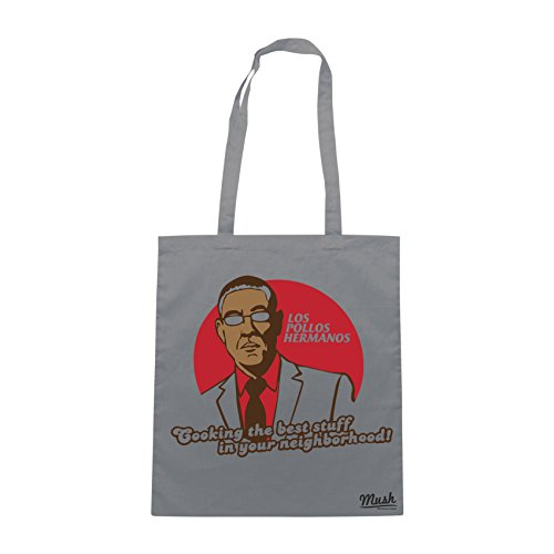 Borsa LOS POLLOS HERMANOS BEST STUFF IN YOUR NEIGHBORHOOD - Grigio - FILM by Mush Dress Your Style
