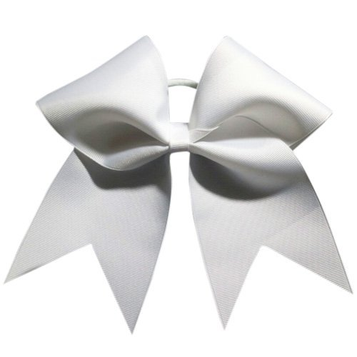 Chosen Bows Big Classic Cheer Bow, White
