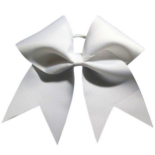 Chosen Bows Big Classic Cheer Bow, White