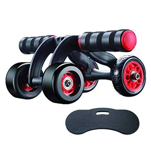 Eletre Ab Roller Wheel,Automatic Rebound 4 Wheels Exercise and Fitness Equipment Abdominal Workout Roller -