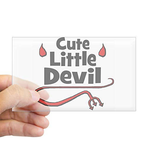 CafePress Cute Little Devil Rectangle Sticker Rectangle Bumper Sticker Car Decal]()
