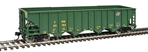 50' 100-Ton 4-Bay Hopper - Ready to Run -- Chicago & North (Western 4 Bay Hopper)