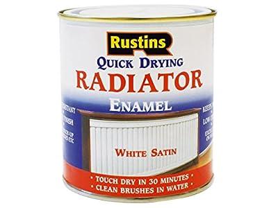 Rustins - Quick Dry Radiator Enamel Paint, Satin White 500ml