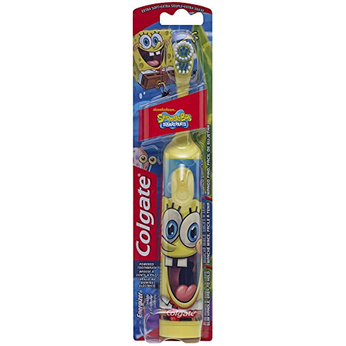 Childs Tooth (Colgate Battery Powered Kids Toothbrush, SpongeBob (Colors Vary))