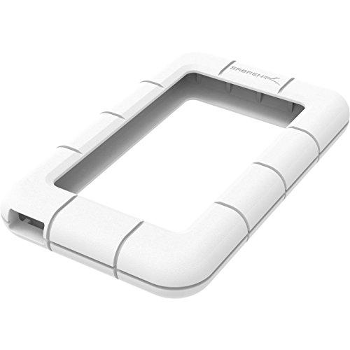 Sabrent Shockproof Bumper Protector For Sabrent Hard Drive Enclosures models EC-UK25 / EC-US25 / EC-UK30 / EC-UM30 [White] (EC-SCWT)