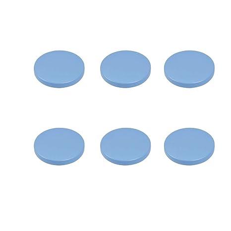6 Un. TIRADOR Pomo Mueble BEBÉ círculo madera lacada azul ...