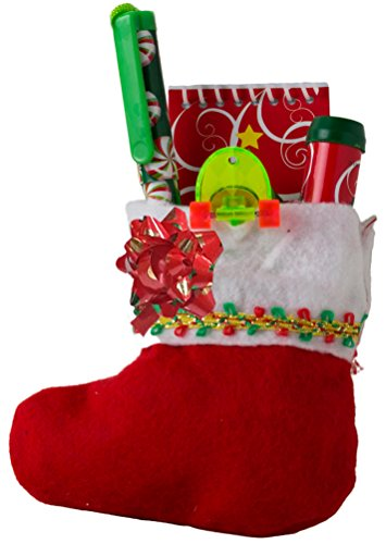 Christmas Mini Stocking Pre-Filled w Ast Holiday Toys - 1 Ea Kids Gift Bag
