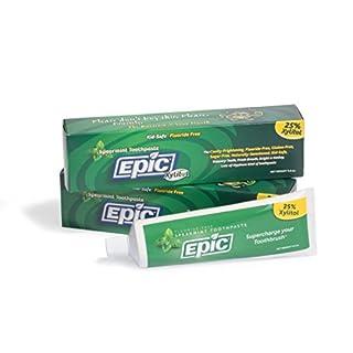 Epic Dental Fluoride Free Xylitol Toothpaste, Spearmint, 4 9 Oz Tube