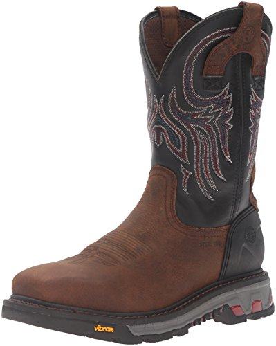 Justin Original Work Boots Men's Commander X-5 WK2104, Reddish Tan Waxy Milled Buffalo, 13 2E -