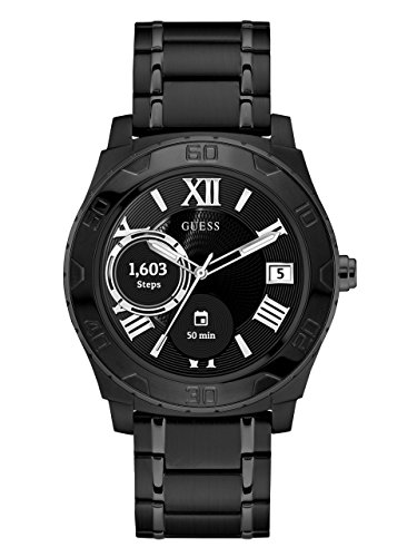 GUESS-Mens-Connect-Androidwear-Quartz-Stainless-Steel-Casual-Watch-ColorBlack-Model-C1001G5