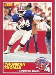 1989 Score Football Rookie Card IN SCREWDOWN CASE #211 Thurman Thomas Mint