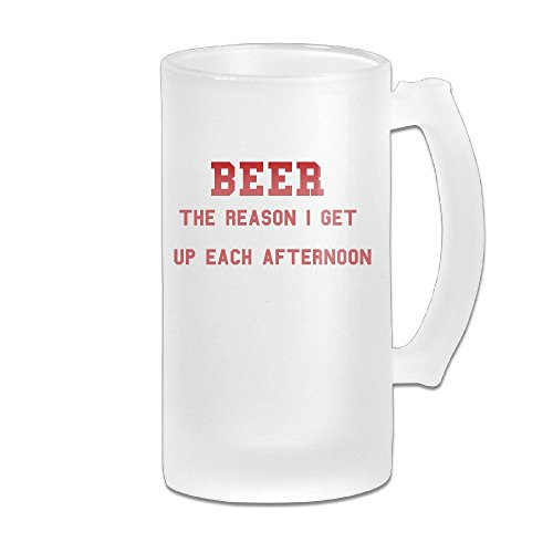 Handson Stainless Steel Vacuum Insulated Beer Mug Beer The Reason I Get Up Each Afternoon Handled Traveling Tumbler - Prices Maybach